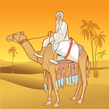 Camel with an Arabian man