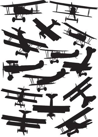 Early Flight, Fokker D7 silhouettes Illustration