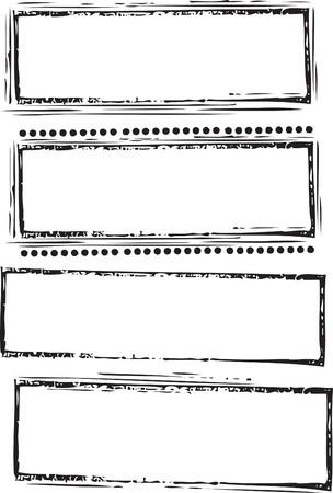 Grunge abstracta sello automático set completo editable vectoriales