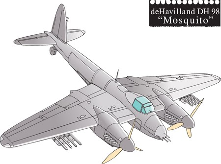 Mosquito, WW2 aircraft.