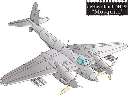bomber plane: Mosquito, WW2 aircraft.
