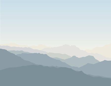 Mountain scenic Stock Vector - 7930478