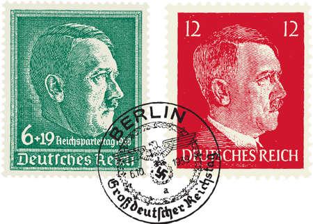 Francobolli naziste. (Adolf Hitler)