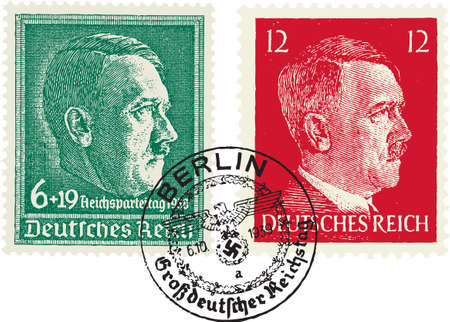 Nazi stamps. (Adolf Hitler)