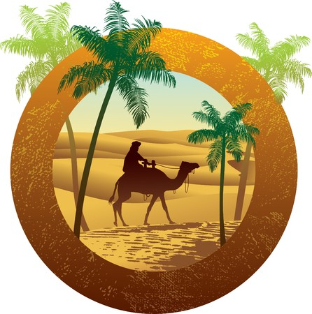 sand dune: Sahara desert grunge Illustration