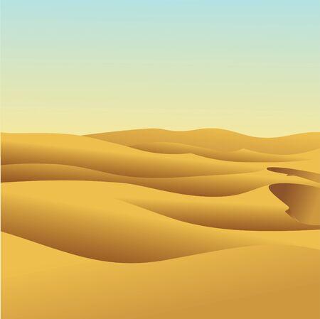 Duna de arena Ilustración de vector