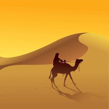 Dune di sabbia e cammello