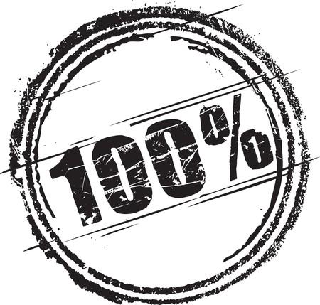 Astratto grunge timbro con il testo cento per cento