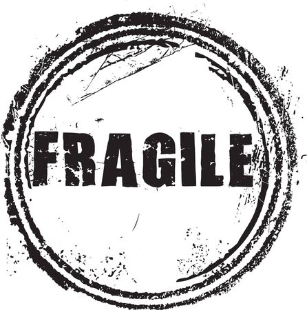 shipped: Abstract grunge rubber stamp with the text fragile