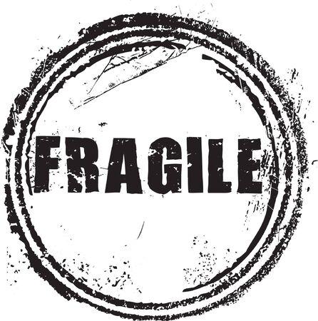 expenses: Sello de caucho de grunge abstracto con el texto fr�gil Vectores