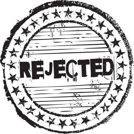 canceled: Abstract grunge rubber stamp with the text rejected