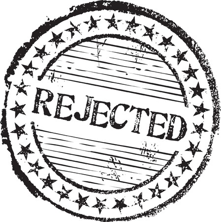 rejected: Abstract grunge rubber stamp with the text rejected