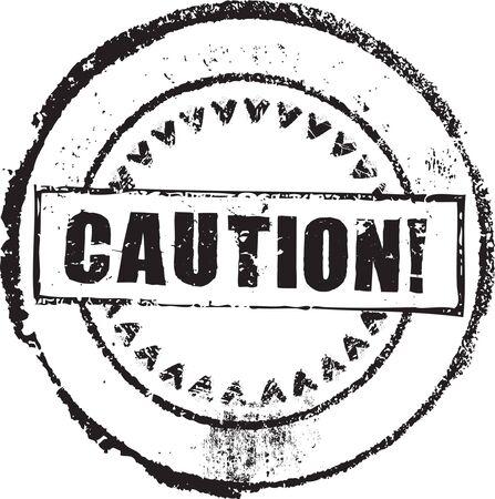 Grunge astratta timbro con la prudenza di testo Vettoriali