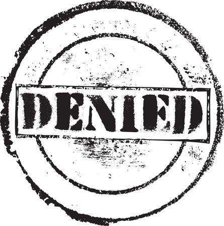 Abstract grunge rubber stamp with the text denied