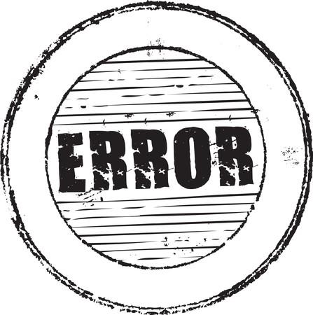 Timbro di gomma grunge astratto con il testo di errore