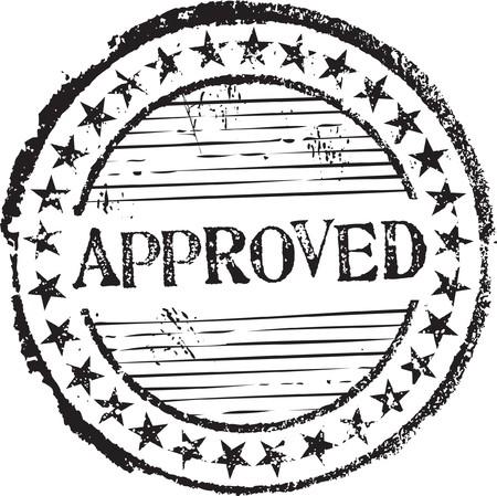 approved stamp: Sello de caucho de grunge abstracto con el texto aprobado