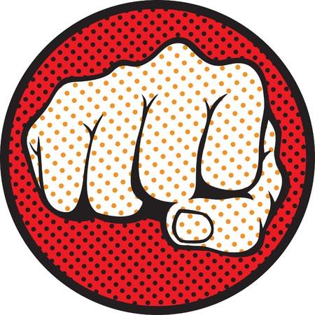 Retro style fist illustration