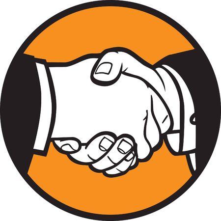 saludo de manos: Ilustraci�n de Protocolo de enlace