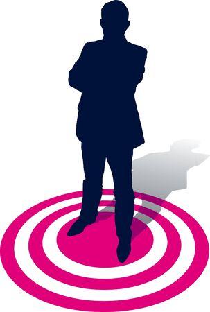 distinguish: A businessman selected, conceptual business illustration
