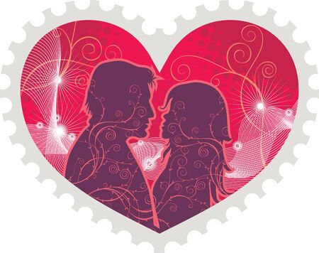 Heart stamp for valentine's day Stock Vector - 8045326