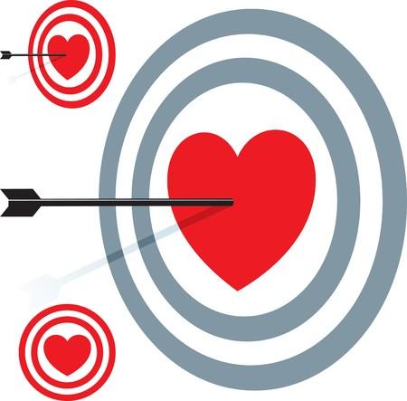 Target love. Valentine's day illustration. Stock Vector - 8045318