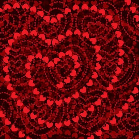 Heart shapes background