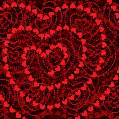 Sfondo di forme di cuore Vettoriali