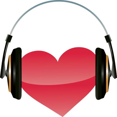 Listen your heart. Valentine's day illustration. Stock Vector - 8045319