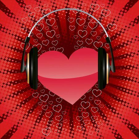 Listen your heart. Valentine's day illustration  イラスト・ベクター素材