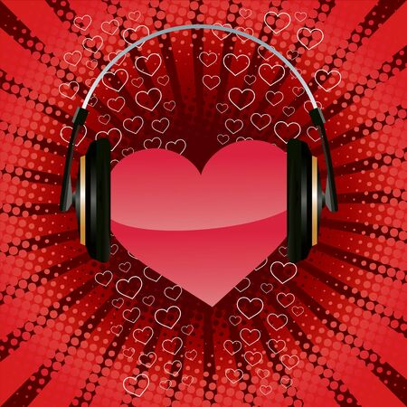 Listen your heart. Valentines day illustration Illustration