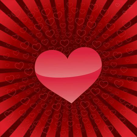 Heart backgrounds, valentine's day illustration Stock Vector - 8045325