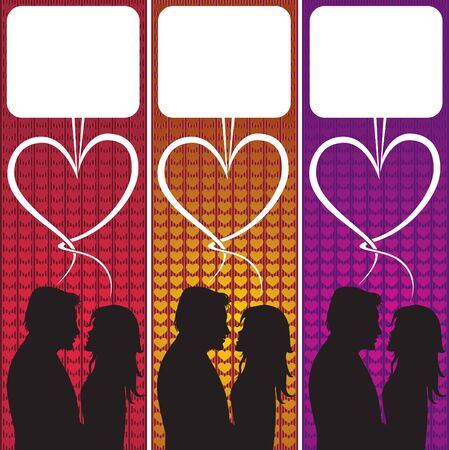 Love Speech Bubble. Valentines day illustration. Vector