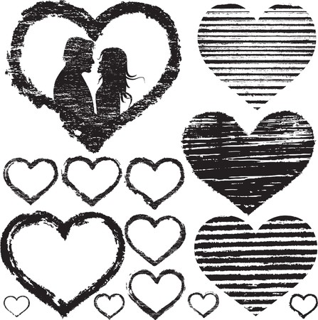 Stamp of Love. Stamp set Vector