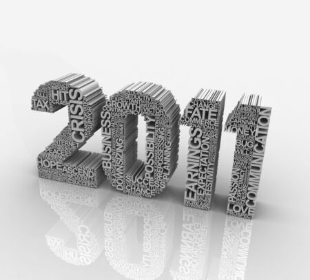 Happy new year, Design of the new year with words made of Stock Photo - 8452304