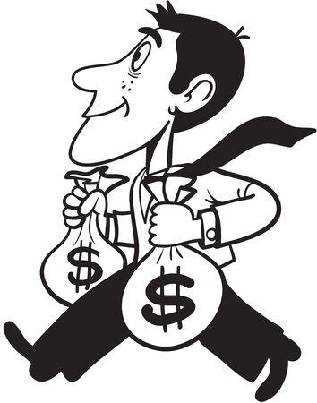 Uomo che porta soldi Vettoriali