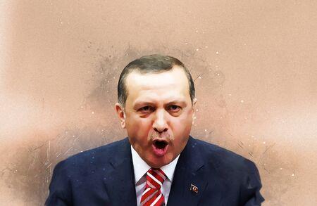 elected: The illustration Recep Tayyip Erdogan, President of the Republic of Turkey