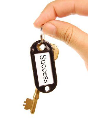 Handing over keys to success Stock Photo