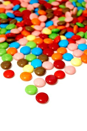 smarties: Smarties on a white background