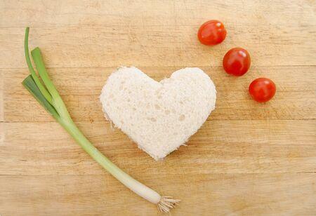 Heart shaped sandwich  photo