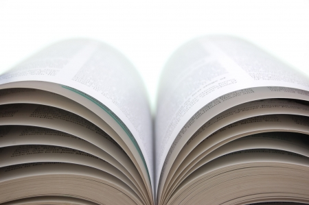 Open book with turning pages Stock Photo