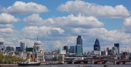 central: Londres panorama Foto de archivo