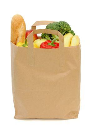 bagged: Bag of groceries