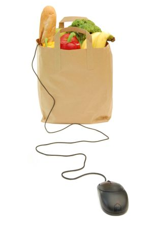 Online grocery shopping Stock Photo - 5195323