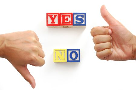 Yes, or no? Stock Photo - 5225313