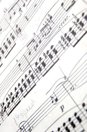music score: Closeup of a music score