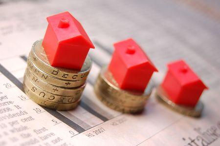 pound: Property ladder Stock Photo