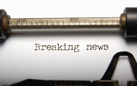 old fashioned: Breaking News on an old typewriter