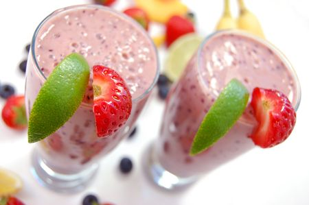 Fruit smoothie photo
