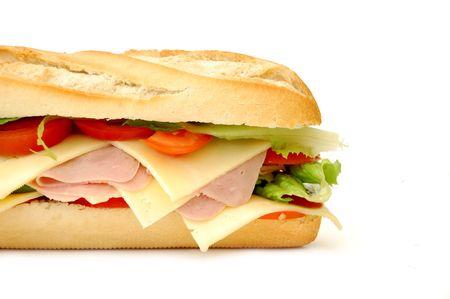 sandwich: S�ndwich de Sub Foto de archivo