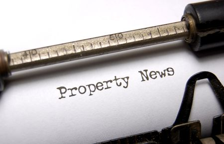 Property news written on an old typewriter Stock Photo - 5684423